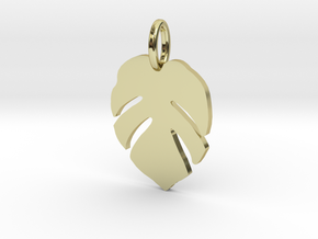 Monstera in 18k Gold Plated Brass