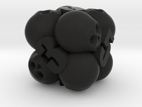 Ossuary d6 in Black Premium Versatile Plastic