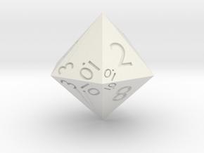 Sphericon-based d12 in White Premium Strong & Flexible