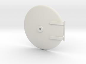Smokebox Door (40mm Boiler) in White Strong & Flexible