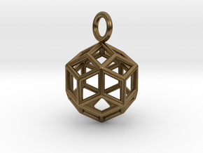 Pendant_Rhombic-Triacontahedron in Natural Bronze