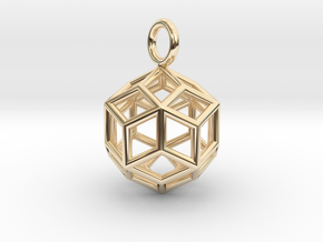Pendant_Rhombic-Triacontahedron in 14K Yellow Gold