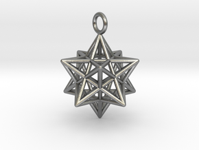 Pendant_Pentagram-Dodecahedron in Natural Silver