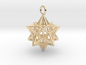Pendant_Pentagram-Dodecahedron in 14K Yellow Gold