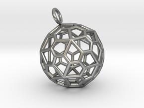 Pendant_Pentagonal-Hexecontahedron in Natural Silver