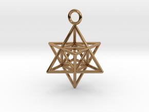Pendant_Merkaba-Triforce in Polished Brass