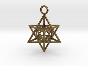Pendant_Merkaba-Triforce in Natural Bronze