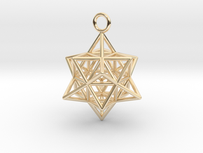 Pendant_Cuboctahedron-Star in 14K Yellow Gold