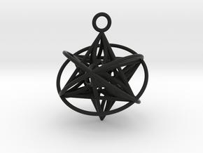 Pendant_Orbital-Merkaba in Black Premium Strong & Flexible
