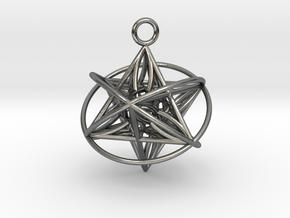 Pendant_Orbital-Merkaba in Polished Silver