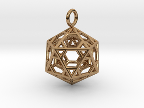 Pendant_Hexagonal-Icosahedron in Polished Brass