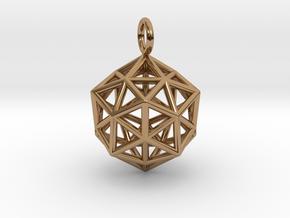 Pendant_ Cuboctahedron-Icosahedron in Polished Brass