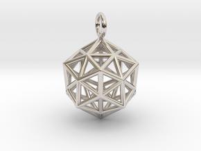 Pendant_ Cuboctahedron-Icosahedron in Platinum