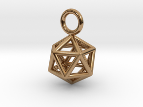 Pendant_Icosahedron-Small in Polished Brass