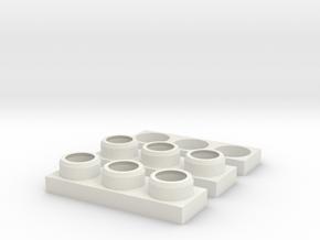 Defender NAS Tail Light Housing Set in White Premium Versatile Plastic