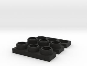 Defender NAS Tail Light Housing Set in Black Premium Versatile Plastic