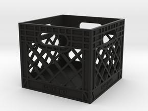 Milk Crate 1:6 Scale in Black Premium Versatile Plastic