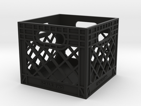 Milk Crate 1:6 Scale in Black Premium Strong & Flexible
