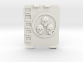 APC hatch Right [Triple  skull] in White Natural Versatile Plastic