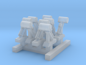 8xWW2_Depth_Charge_Guns_1_350th_scale in Smooth Fine Detail Plastic