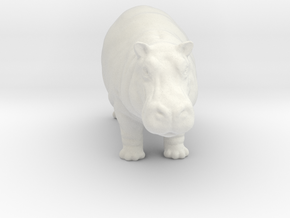 Printle Thing Hippo - 1/48 in White Natural Versatile Plastic