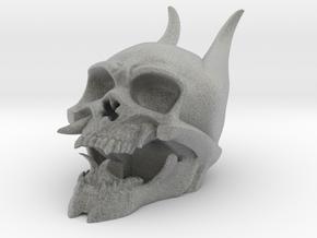 Skull in Metallic Plastic