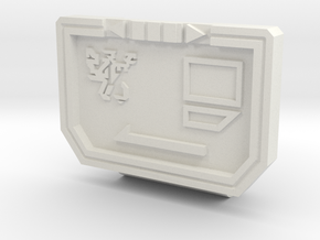 MechFansToys Soundtrack G1 Chest  in White Premium Versatile Plastic