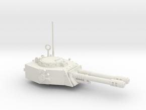 28mm APC turret with 2x auto guns in White Premium Versatile Plastic