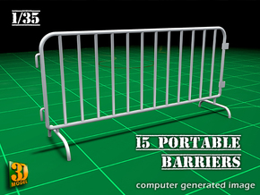 Portable Barrier 15x (1/35) in Smooth Fine Detail Plastic