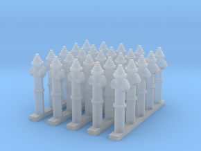 Fire Hydrant - set of 25 - 1:200scale in Frosted Ultra Detail