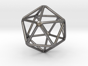 icosahedron large in Polished Nickel Steel