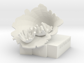 """BX-01: """"Exploded Fortress of Solitude"""" by Lydia Xy in White Natural Versatile Plastic"""