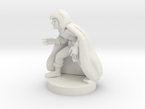 Gnome Caster in White Natural Versatile Plastic