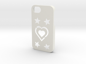 iPhone 4/4S Coque Case in White Natural Versatile Plastic