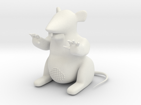 "M-08: ""Upper East Scabby""  by New Affiliates in White Natural Versatile Plastic"