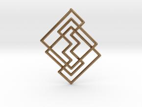 Cobweb Pendant in Natural Brass: Medium