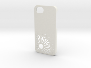 iPhone 5 Christmas Snowflake Case in White Natural Versatile Plastic