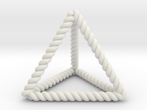 """Twisted Tetrahedron 1.4+"""" RH in White Natural Versatile Plastic"""