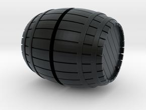 1/72nd (20 mm) scale wooden barrel in Black Hi-Def Acrylate