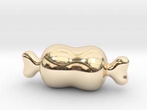 Cartoon Meat in 14k Gold Plated Brass
