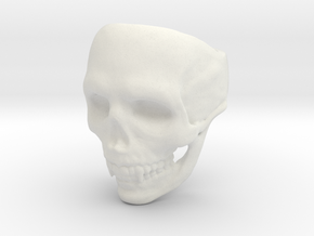 Big Bad Skull Ring in White Natural Versatile Plastic