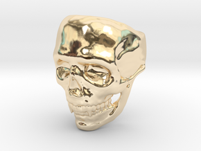 Big Bad Skull Ring in 14k Gold Plated Brass