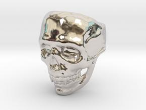Big Bad Skull Ring in Rhodium Plated Brass