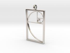 Golden Spiral Pendant #1 in Platinum