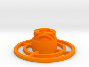 Control grip display base in Orange Processed Versatile Plastic