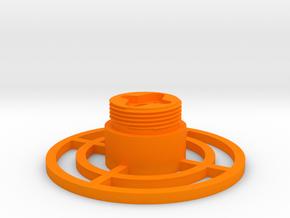 Control grip display base in Orange Processed Versatile Plastic