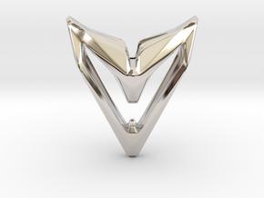 Sharp Astronaut, Pendant. Space Chic in Platinum