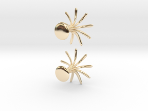 Cufflinks Flourish in 14k Gold Plated Brass