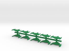 "Romulan  Bird-of-Prey cruisers 1/2"" 10 pack  in Green Processed Versatile Plastic"