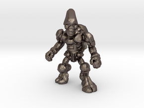 Pillthug, Brawler in Polished Bronzed Silver Steel: Extra Small